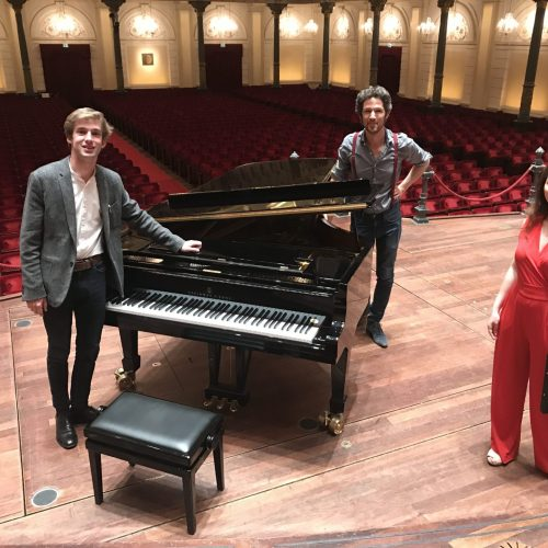 Pianist Marc Wielart plays in an empty Concertgebouw